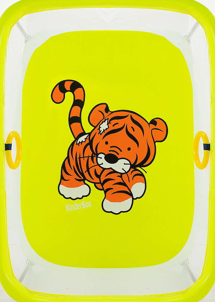 Манеж Qvatro LUX-02 мелкая сетка  желтый (tiger)