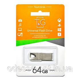 Накопичувач 3.0 USB 64GB T&G металева серія 117 срібло