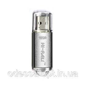 Накопичувач USB 16GB Hi-Rali Rocket серія срібло