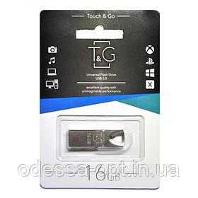 Накопичувач USB 16GB T&G металева серія 117 срібло