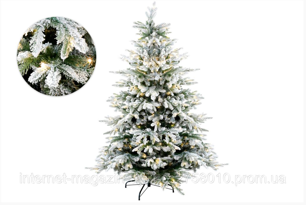 """Ёлка искусственная """"Верона"""" заснеженная с 350 LED, 182см, 1962 ветки, свет - тёплый белый"""