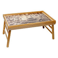 Столик для завтрака в постель BST 710065 бежевый 52х32см. Релакс