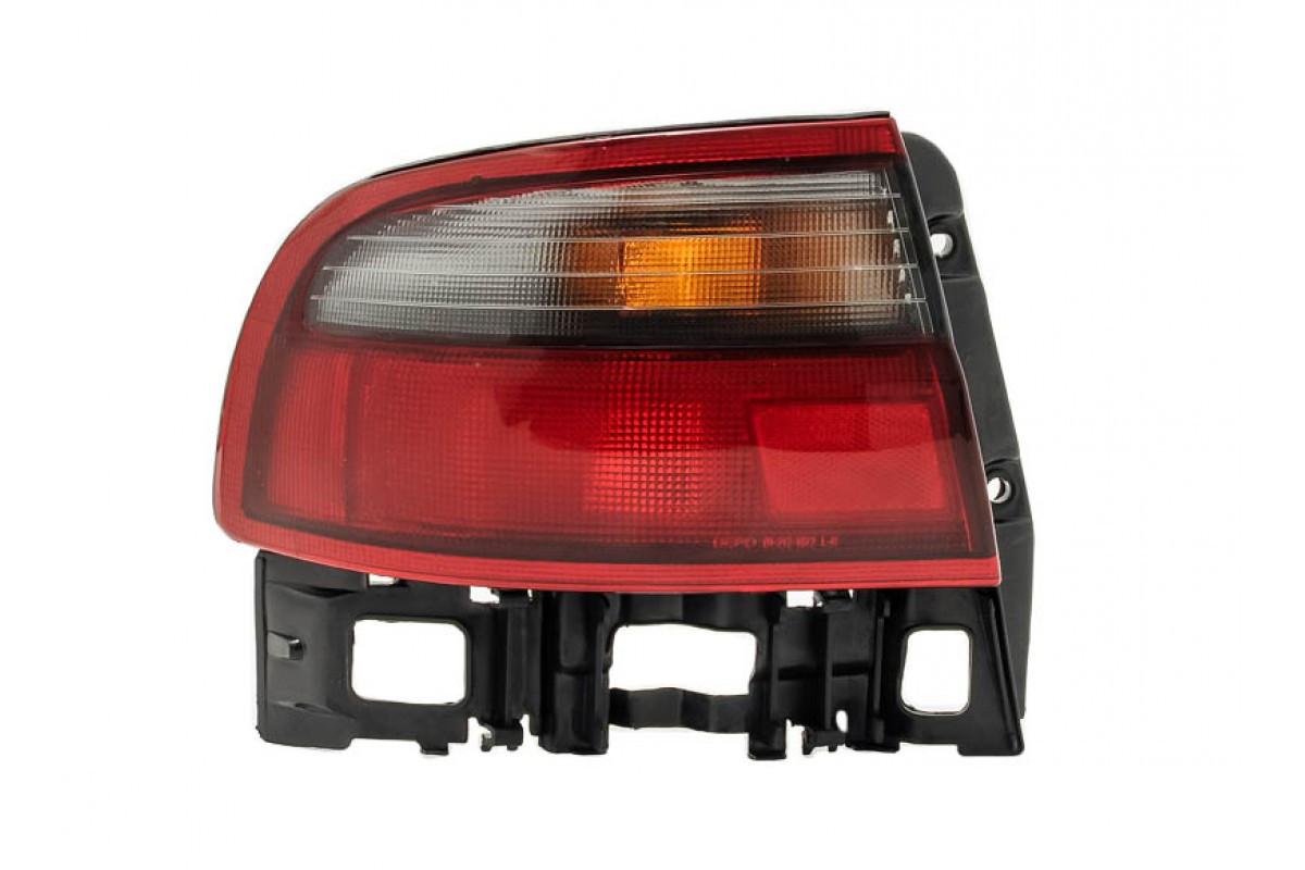 Задний фонарь Toyota Carina E седан 92-97 правый (Depo) внешний, бело-красный 815502B260