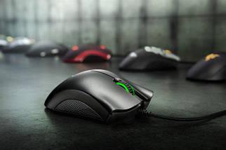 Миша дротова для геймерів Razer DeathAdder Chroma USB, колір Чорно-Зелений, фото 3