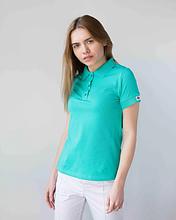 Женское медицинское поло бирюзового цвета размер S - XL