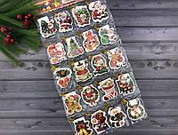 """Новогодние мини-открытки """"Hello Santa"""" (упаковка 160 шт)"""