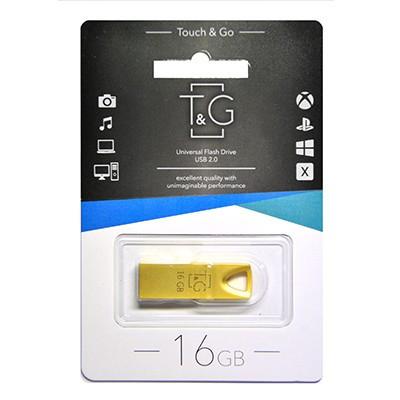 Накопичувач USB 16GB T&G металева серія 117 золото