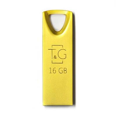 Накопичувач USB 16GB T&G металева серія 117 золото, фото 2