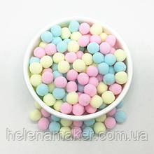 Разноцветные помпоны нежных оттенков 10 мм 20 грамм