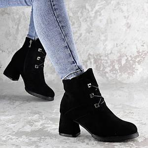 Женские зимние ботильоны на каблуке Fashion Umpa 1369 36 размер 23 см Черный
