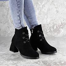 Жіночі зимові ботильйони на підборах Fashion Umpa 1369 36 розмір 23 см Чорний, фото 2