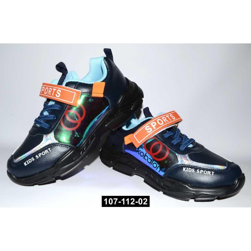 Детские кроссовки, 33-36 размер, легкие, дышащая стелька, 107-112-02