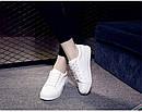 Белые кеды женские білі кеди жіночі, фото 3