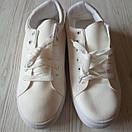 Белые кеды женские білі кеди жіночі, фото 8
