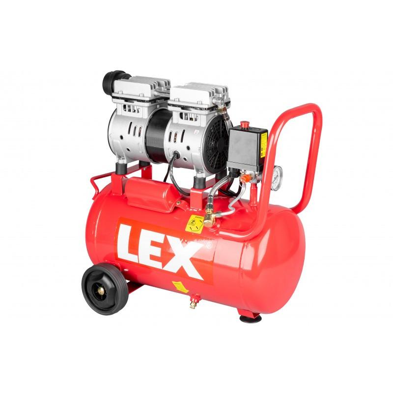 Компресор повітряний безмасляний одноциліндровий LEX 24 л LXAC-24- 11LO
