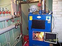 Пуско-наладочные работы твердотопливного котла Идмар-25 кВт