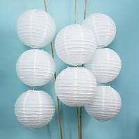 Бумажный фонарь 45 см, белый