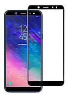 Защитное стекло для Samsung Galaxy A6 Plus 2018 / A605 (Черный)