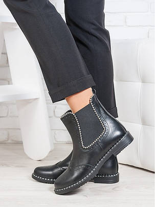 Ботинки Челси кожа бусинка 6695-28, фото 2
