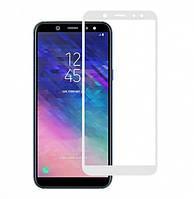 Защитное стекло для Samsung Galaxy A6 Plus 2018 / A605 (Белое)