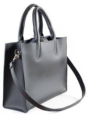 Кожаная сумка черная Sollo 6760-11, фото 2