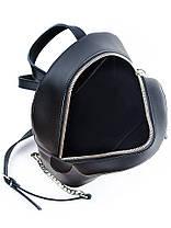 Кожаный черный рюкзак 6763-11, фото 3