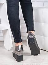 Туфли кожаные на платформе 6850-28, фото 3