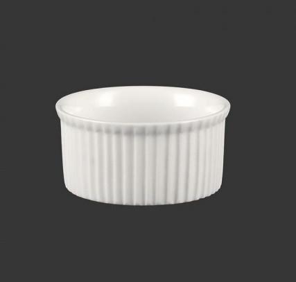 Соусник-кокотник белый ребристый d 75 мм арт. 0252
