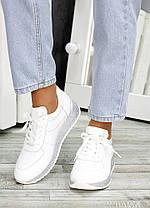 Кроссовки кожаные белые Лола 6919-28, фото 3