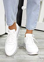 Кроссовки кожаные белые Лола 6919-28, фото 2