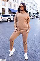 Костюм жіночий трикотажний спортивний на флісі, фото 1