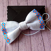 Дитячий вишитий метелик-краватка (ручна робота)