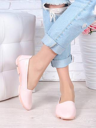 Туфли мокасины пудра кожа 7026-28, фото 2