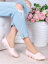 Туфли мокасины пудра кожа 7026-28, фото 3