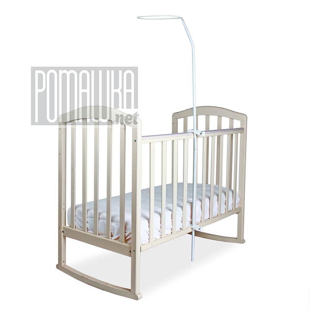 Универсальный держатель (стойка, опора, подпора, крепёж) для балдахина (под балдахин) в (на) детскую кроватку