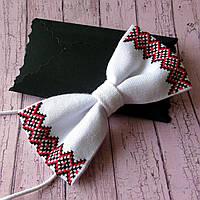 Дитячий вишитий метелик-краватка (ручна робота)  , фото 1