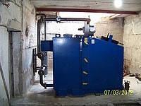 Монтажные работы по установке твердотопливного котла IDMAR-KW-GSN-150 кВт монтаж гидрострелки; прокладка трубопровода; установка насоса, фильтра, обратного клапана и др. оборудования
