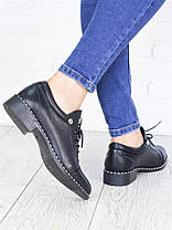 Туфли черные кожаные 7145-28, фото 3