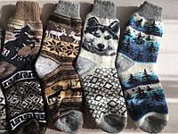 Шкарпетки зимові шерстяні кругові дорослі розмір 37по41, фото 1