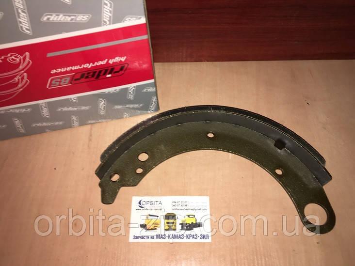 3110-3502090 Колодка тормозная задняя ГАЗ 3110 ВОЛГА (комплект 4 шт) с накладкой длин. (RIDER)