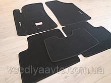Ворсовые коврики в салон Geely Emgrand 7 (Черные)
