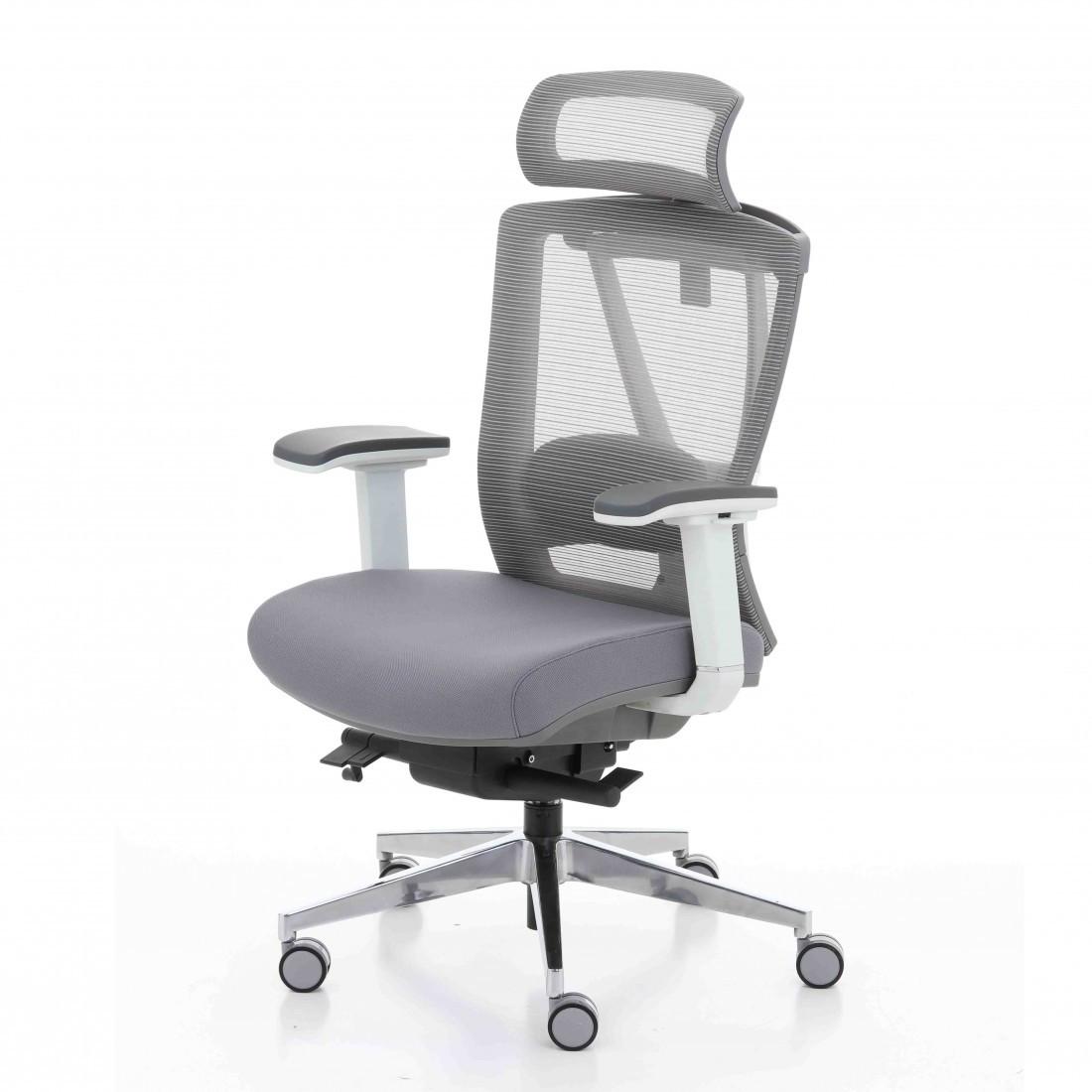 Кресло компьютерное с подголовником Enrandnepr ERGO CHAIR 2 Grey