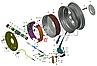 3110-3502090 Колодка тормозная задняя ГАЗ 3110 ВОЛГА (комплект 4 шт) с накладкой длин. (RIDER), фото 3
