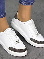 Кеды белые кожаные 7269-28, фото 3