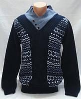 Свитер шерстяной темно-синий р.XL(52)