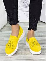 Туфли лоферы замша лимон 7274-28, фото 2