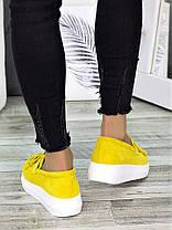 Туфли лоферы замша лимон 7274-28, фото 3