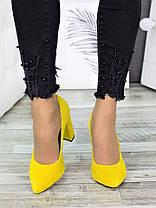 Туфли на каблуке лимон замша 7283-28, фото 2