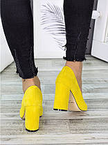Туфли на каблуке лимон замша 7283-28, фото 3