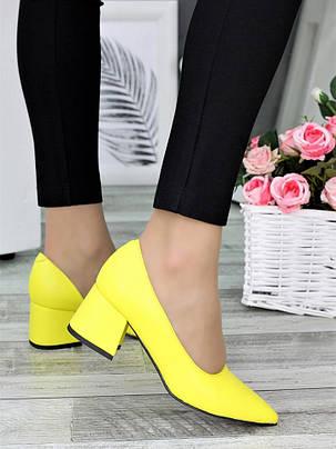Туфли лодочки желтые Laura 7327-28, фото 2